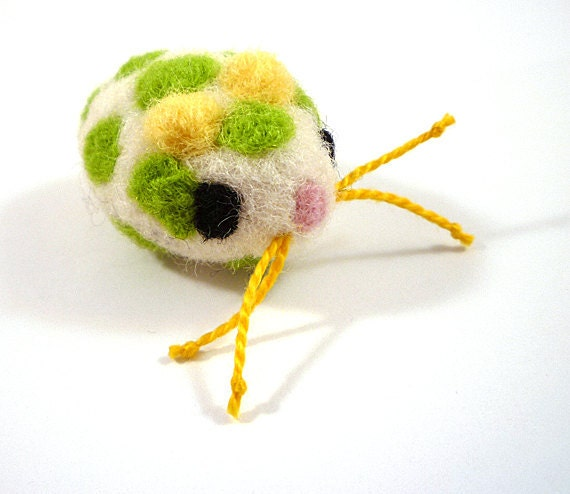 Mouse Catnip Cat Toy - Needle Felted Wool