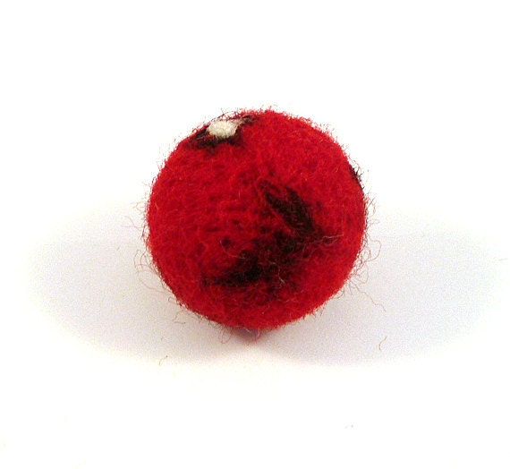 Mars Planet Catnip Cat Toy - Needle Felted Wool Toy