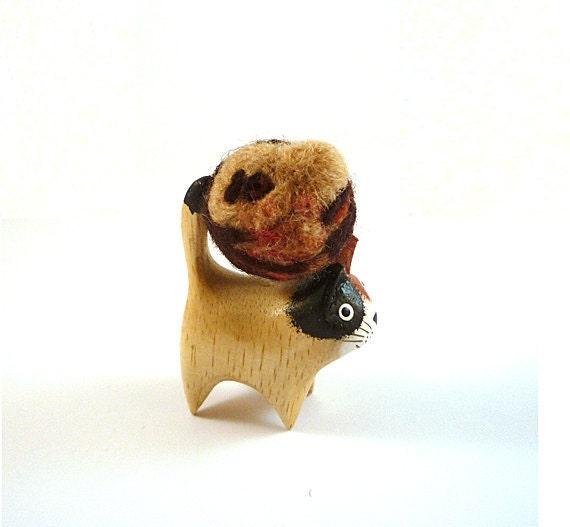 Sandor Clegane Catnip Toy - Needle Felted Sculpture