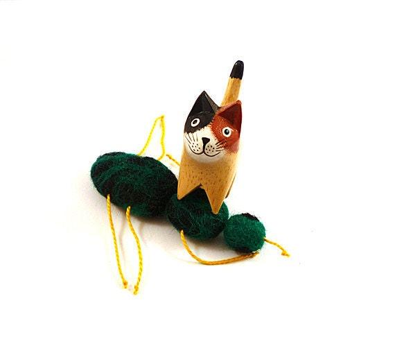SALE Beetle Catnip Cat Toy -  Needle Felted Wool