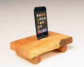 50% OFF ... iPhone dock. iPod dock made from natural edge wood. Western juniper . Simple, sophisticated, Zen garden miniature. 64