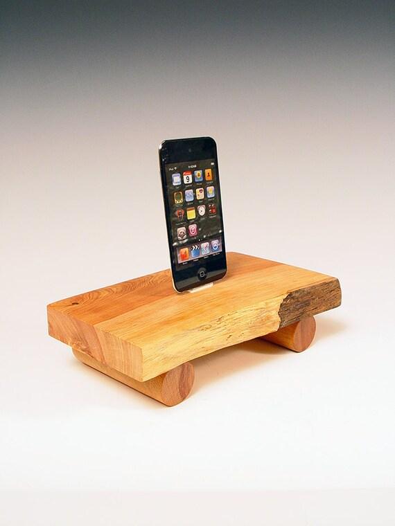 50% OFF ... iPhone dock. iPod dock made from natural edge wood. Western juniper . Simple, sophisticated, Zen garden miniature. 64