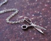 Scissors Necklace in Sterling Silver by RevelleRoseJewelry