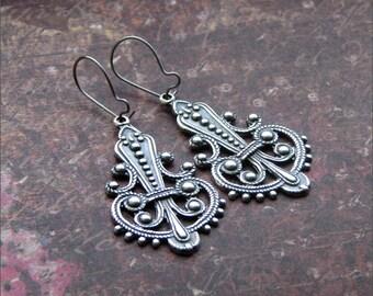 SILVER CHANDELIER Earrings Dangle Pendants PRETTY Wife, Sister, Mother, Loved One Gift 'Classic'  by RevelleRoseJewelry