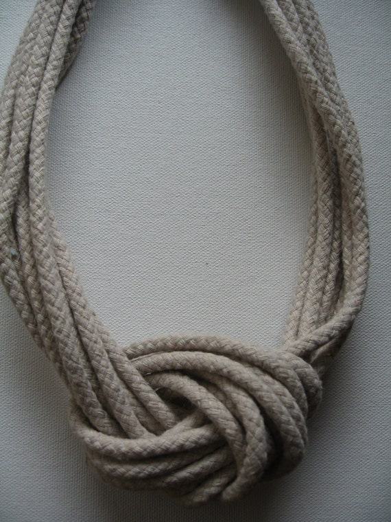 Nautical large knot rope necklace for Large nautical rope