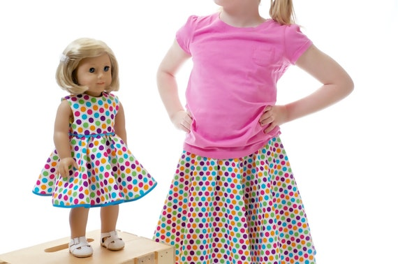 American Girl/18 inch Doll and Girl Matching Clothes - Polka Dots