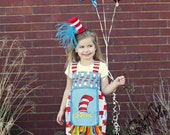 Why Fit In When You Were Born To Stand Out.  The Wacky World of Dr.Seuss Tie Back Apron Dress/Top and Ruffle Pants