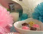 Tissue Paper Pom Poms in your colour choice - Set of 3