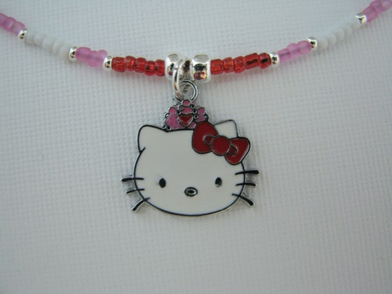 Hello Kitty - Hello Kitty Necklace - Hello Kitty Jewelry - Bead Necklace