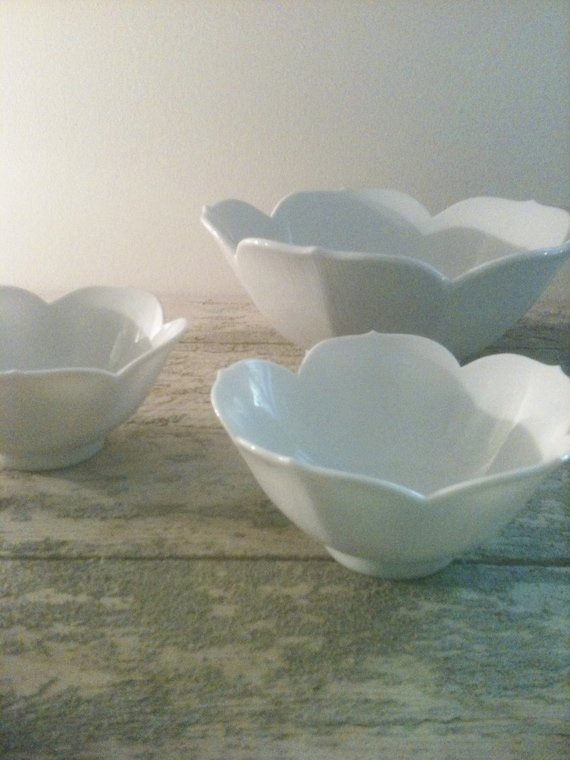 Set of Three Lotus Bowls