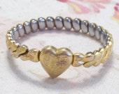 Vintage Foster WWII Child's Gold Filled Sweetheart Expansion Bracelet