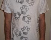 Pawfuzzer -  Total wraparound pawprint t-shirt. Yiff yiff. Pawprint shirt.