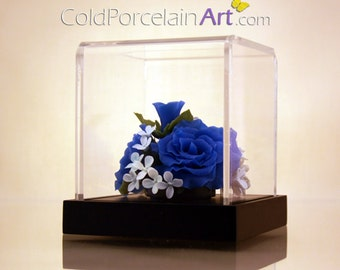 Blue Rose - Cold Porcelain Art - Made to Order