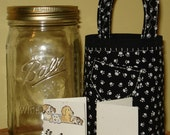 Jar Tote Gift Package with Jar - Pawprints Dog