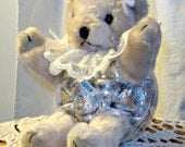 Teddy Bear Ornament with Candy or Gift Holder