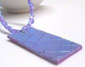 Purple Czech Glass Necklace With Handmade Pendant