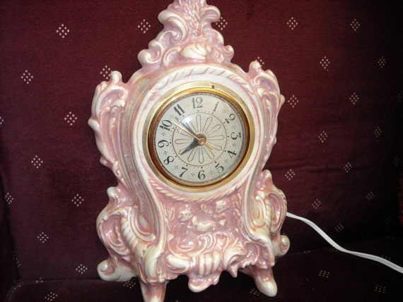 Vintage Victorian Style Ceramic Clock