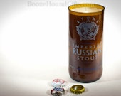 Beer Bottle Soy Candle Recycled Stone Imperial Russian Stout - Vanilla