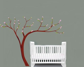 "Kids Cherry Blossom tree vinyl wall decal 108""x84"""