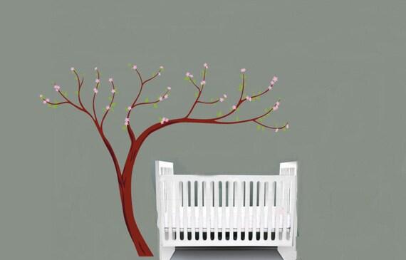 "Kids Cherry Blossom tree vinyl wall decal 108""x84"""