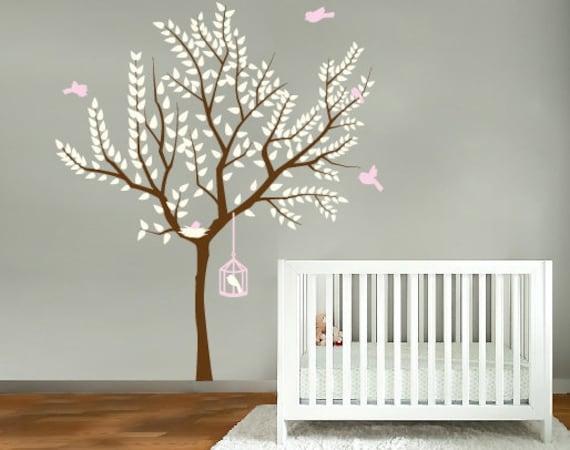 wand dekor aufkleber kinderzimmer wandtattoo vogelk fig. Black Bedroom Furniture Sets. Home Design Ideas