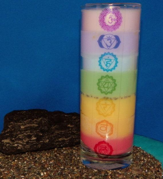 Chakra Meditation handmade soy candle.
