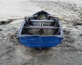 8x10 Matte Print of Blue Row Boat