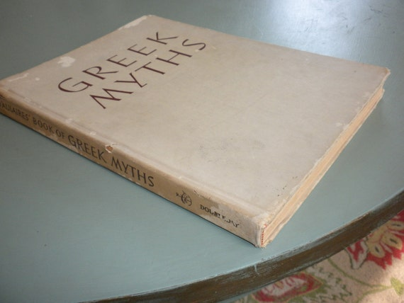 Beautifully Illustrated Coffee Table Book, D'Aulaires' Greek Myths from 1962