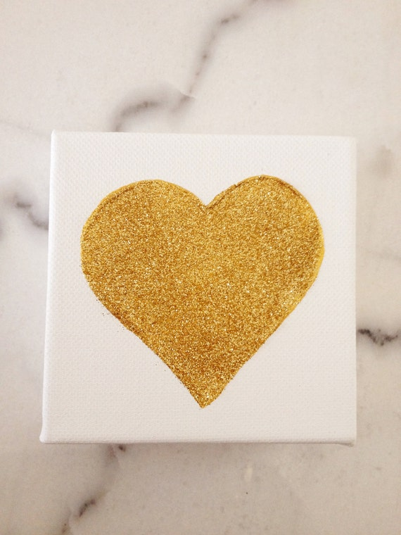 4x4 Canvas Painting - Heart of Gold