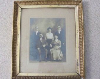 Framed Victorian Family Photo