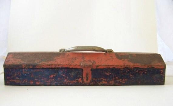 Orange Metal Toolbox
