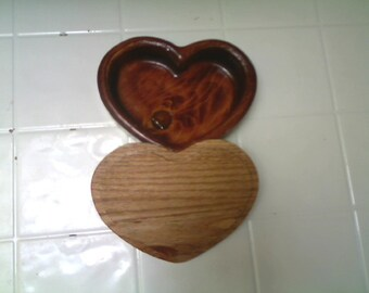 "6 Inch ""Chocolate"" Heart with Lid"