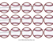 SALE SALE Bottle Cap Images 1c147 Softball 1 Inch Inch Circle Digital 4x6 jpg Bottlecap Collage Sheet