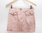 Pastel pink denim mini skirt xs