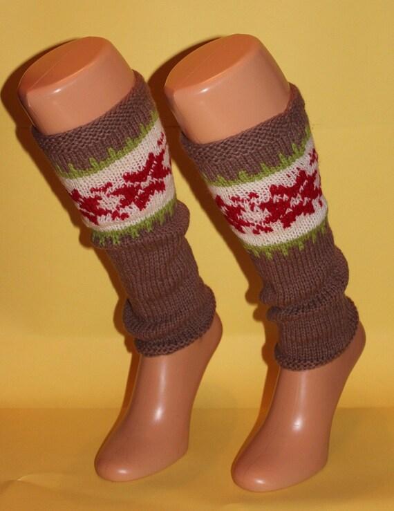 New leg warmers stockings 100% wool Women Girls Present