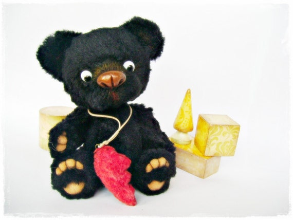 Silk mohair Artist Teddy Bear - Ugolek
