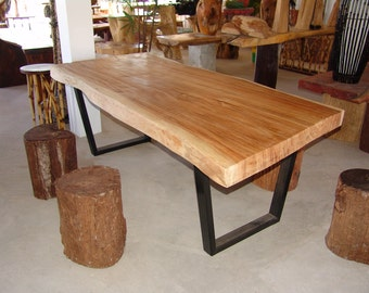 Live Edge Dining Table Acacia Wood Live Edge Reclaimed Solid Slab Rare