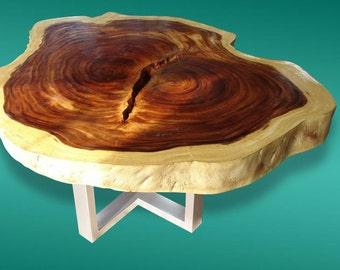 Live Edge Coffee Table Acacia Wood Live Edge Reclaimed Solid Slab