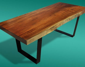 Live Edge Dining Table Acacia Wood Live Edge Reclaimed Solid Slab