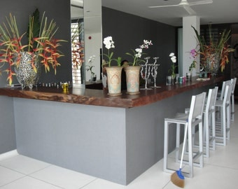 Live Edge Bar Table Top Reclaimed Solid Slabs Acacia Wood Rare