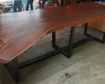 Live Edge Dining Table Reclaimed Solid Slab Acacia Wood  Extremely Rare Size
