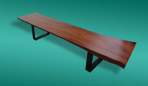 Live Edge Bench Acacia Wood Solid Slab Table