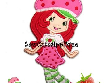 Strawberry Shortcake No Sew Applique Patch