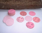 Dollar Deal. 40  Pink Fairy Tale Round Paper Punches.