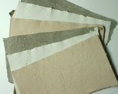 Three Colours of Chocolate. Handmade Paper x 6 Medium Sheets.