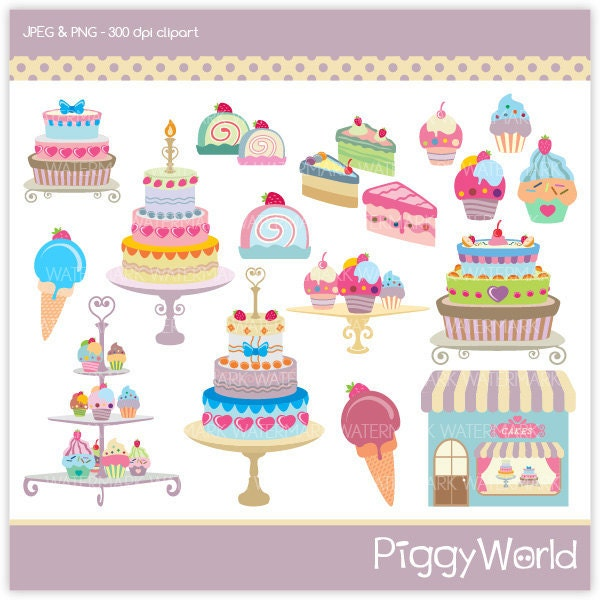 Cake Art Bakery : PW4 Chic Cake Shop digital clip art chic sweets banner