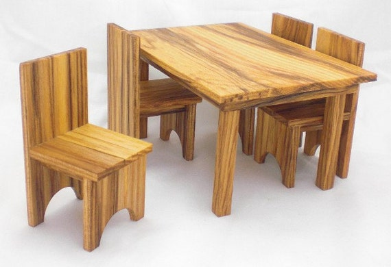 Miniature Dining Set - Mini Furniture - Miniature Fruniture