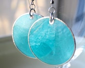 Caribbean Blue Shell Earrings