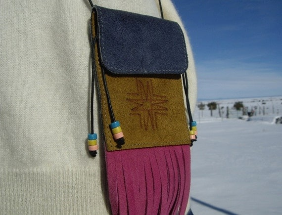 Fringed Medicine Bag with Beads