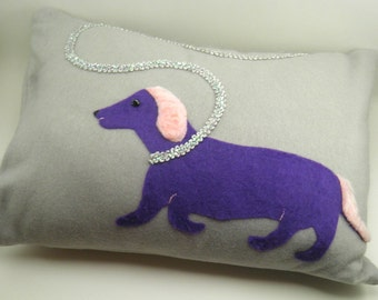 Funky throw pillows: Dachshund gifts, unique throw pillows,cool pillow